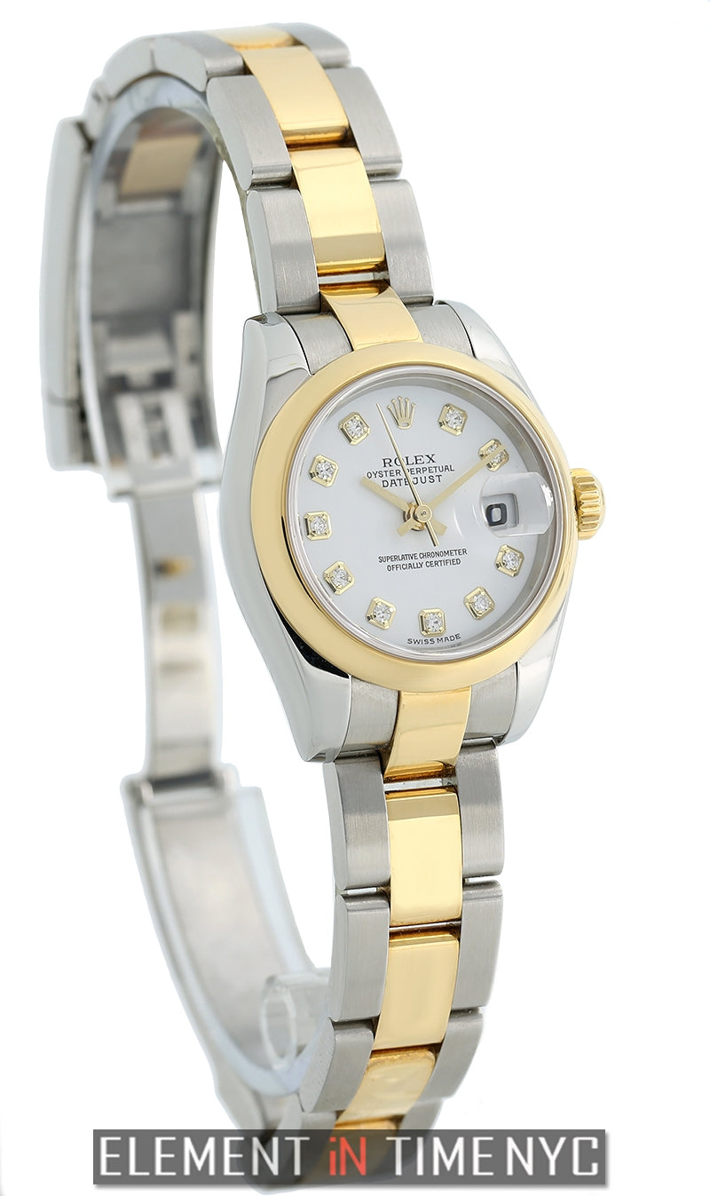 Lady 26mm Steel & Yellow Gold White Diamond Dial Circa 2004
