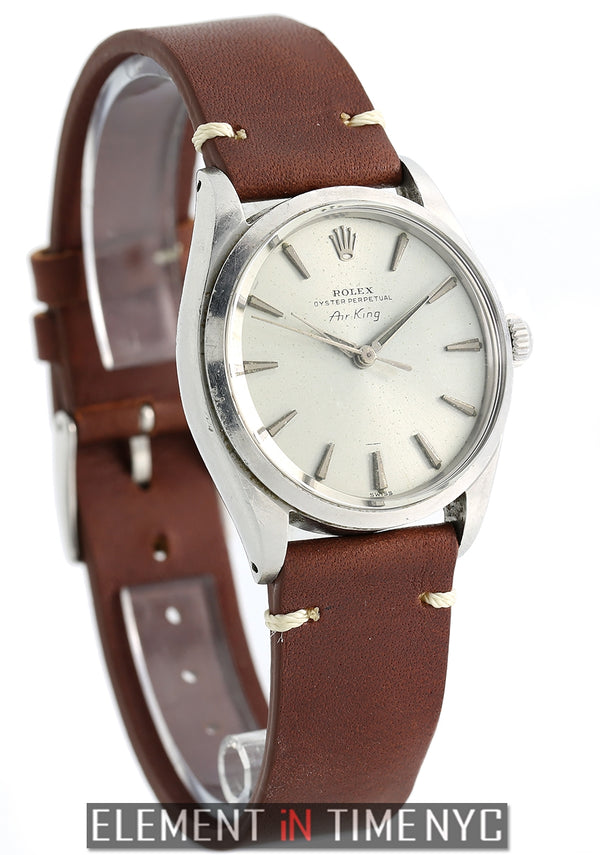 Vintage Steel 34mm Silver Underline Dial Original Finish Circa 1958