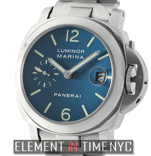 Luminor Marina 40mm Stainless Steel Blue Dial D Series 2001