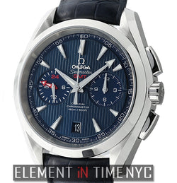 Aqua Terra 150 M Co-Axial GMT Chronograph 43mm Blue Dial
