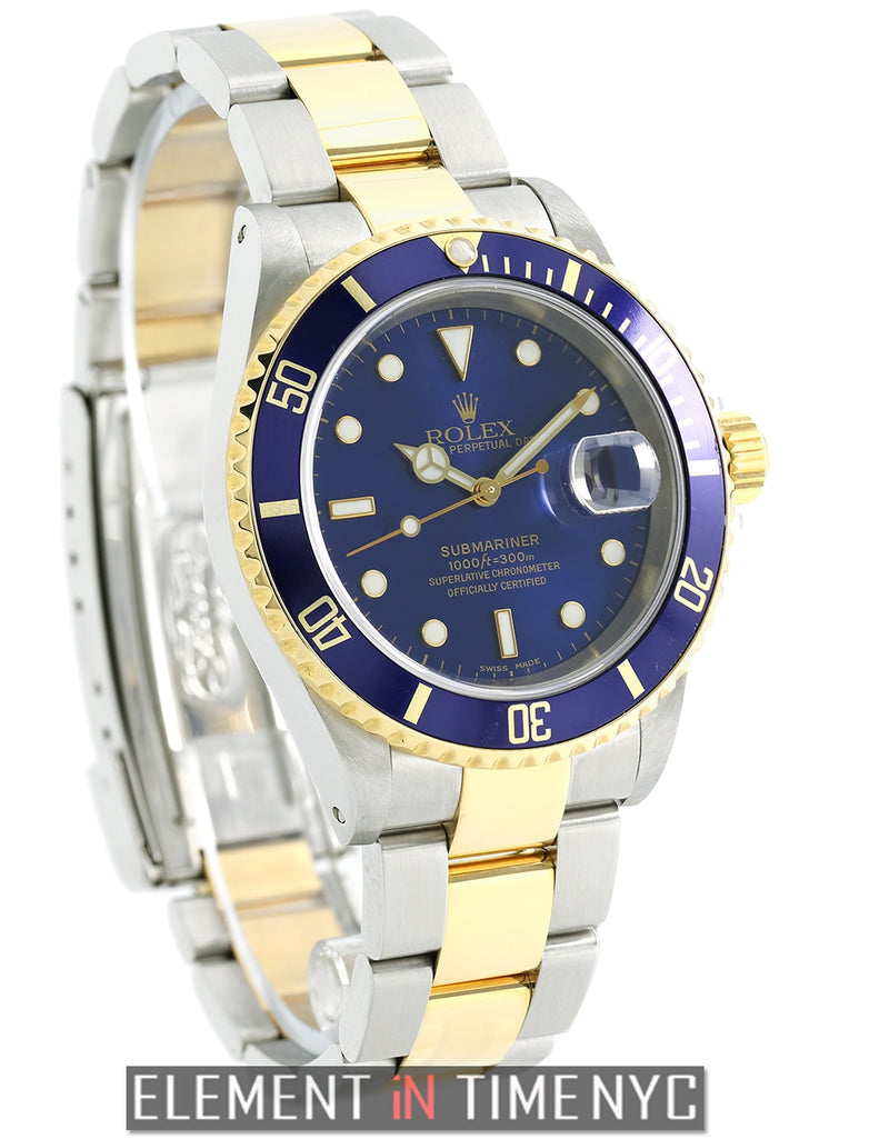 Steel & Yellow Gold Blue Dial Y Serial 2003