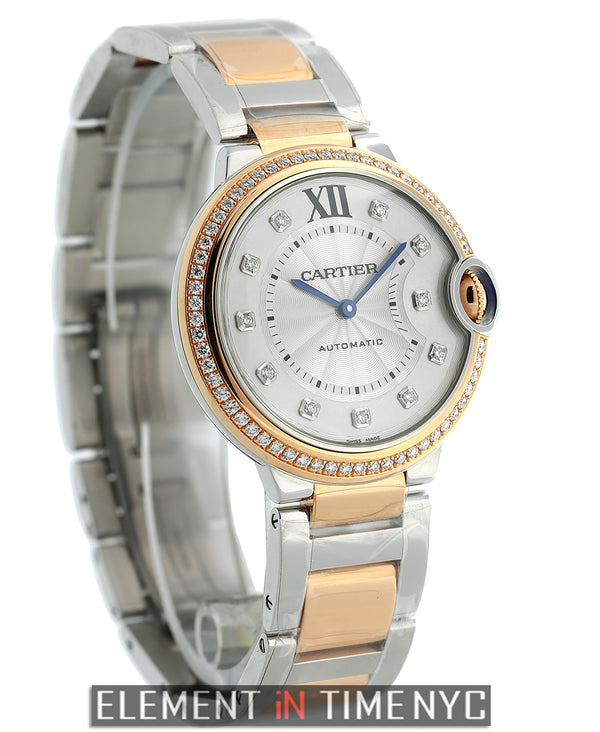 Ballon Bleu 36mm Steel & Rose Gold Diamond Dial & Bezel