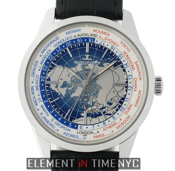Universal Time Stainless Steel 42mm Blue Dial