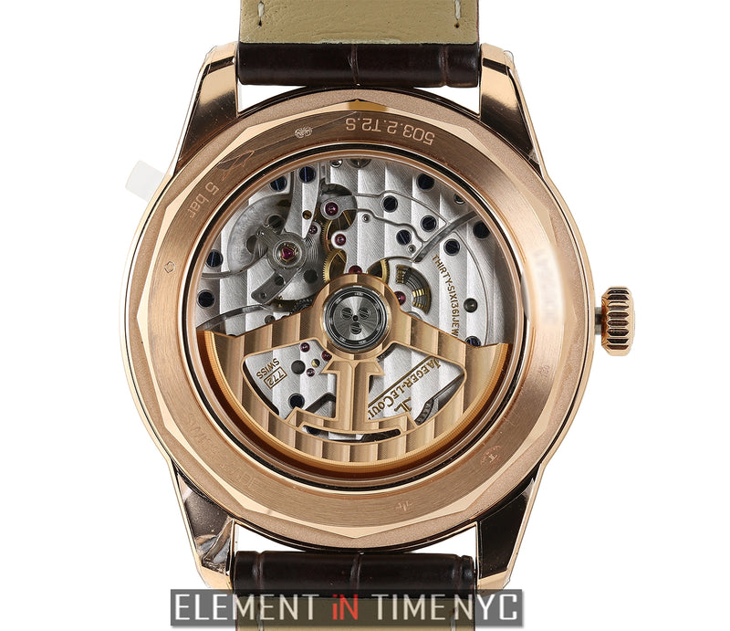 Universal Time 18k Rose Gold 42mm Blue Dial