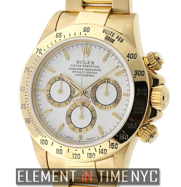 18k Yellow Gold White Dial Zenith Movement A Serial 2000