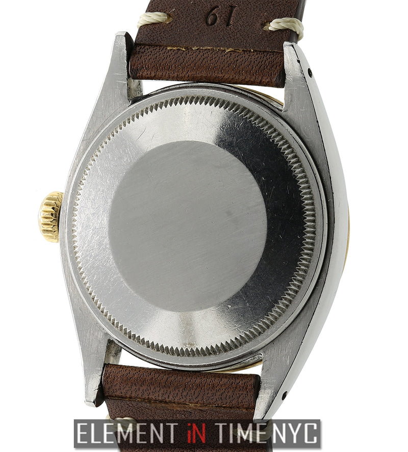Vintage Explorer Date Steel & Yellow Gold Silver Dial 34mm Circa 1959