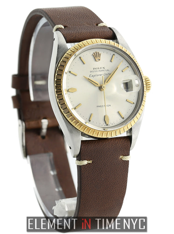 Explorer Date Steel & Yellow Gold Silver Dial 34mm Circa 1959