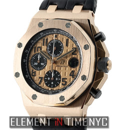 Chronograph 42mm 18k Rose Gold Gold Dial