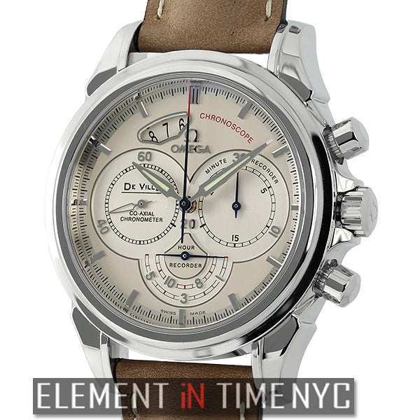 Chronoscope Co-Axial 41mm Stainless Steel Silverish-Beige Dial