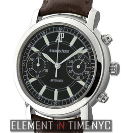 Chronograph Stainless Steel 38mm Black Dial