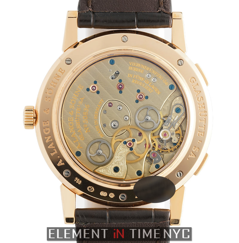 Time Zone 18k Rose Gold 42mm Silver Dial Launch Model 2005