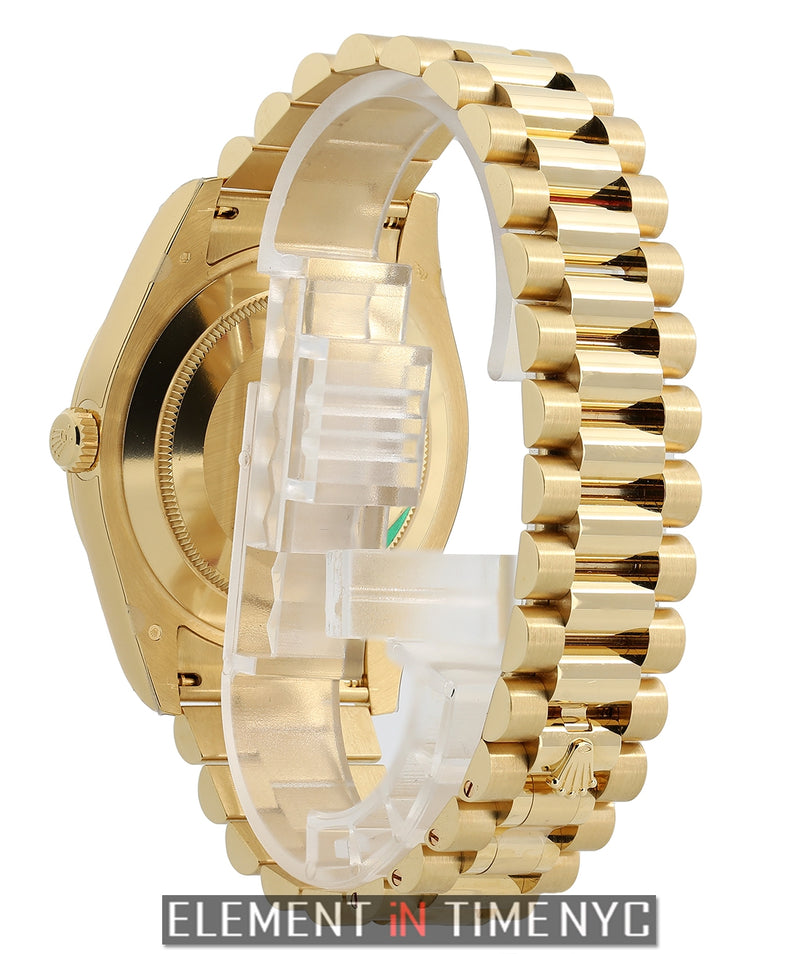 President 41mm 18k Yellow Gold Baguette Diamond & Ruby Dial