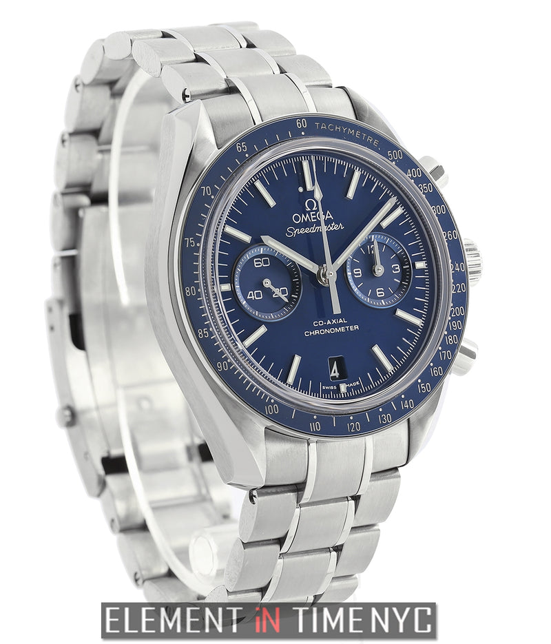 Moonwatch Co-Axial 44mm Chronograph Titanium Blue Dial