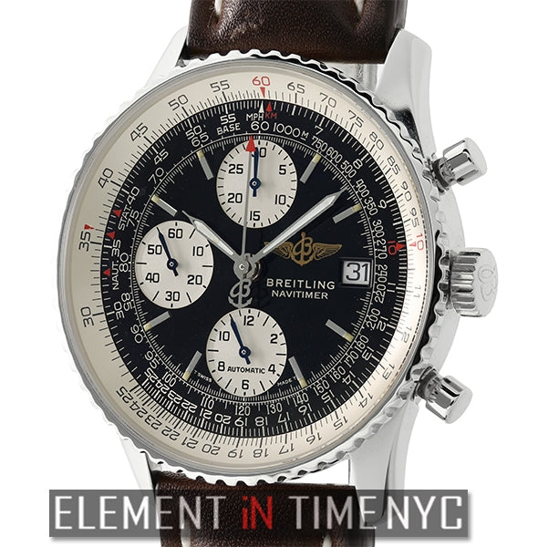 Old Navitimer II Stainless Steel Black Dial 41mm Deployment