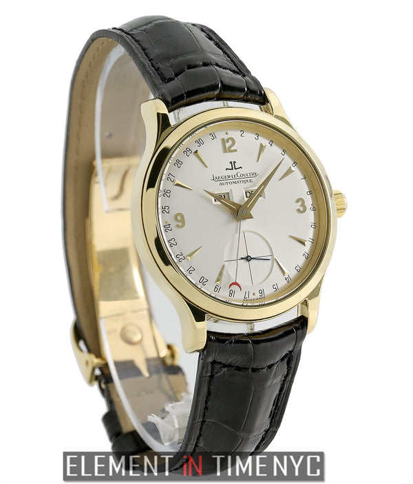 Triple Calendar 18k Yellow Gold Silver Dial 37mm Deployment