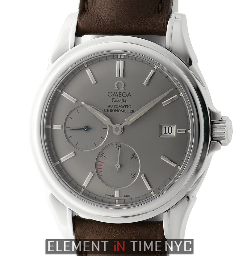Co-Axial Power Reserve Stainless Steel 39mm Grey Dial