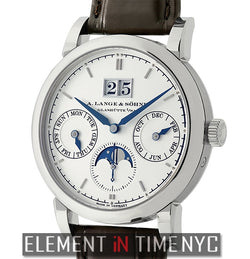 Annual Calendar Moonphase 39mm 18k White Gold