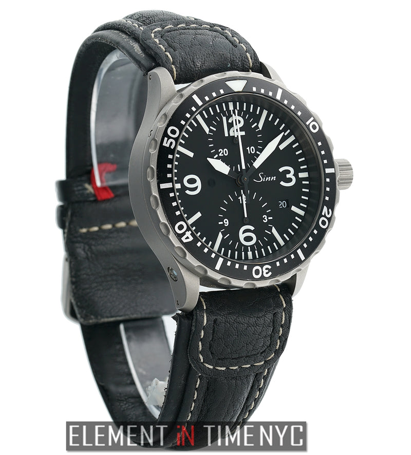 Diver Chronograph Stainless Steel 43mm Black Dial
