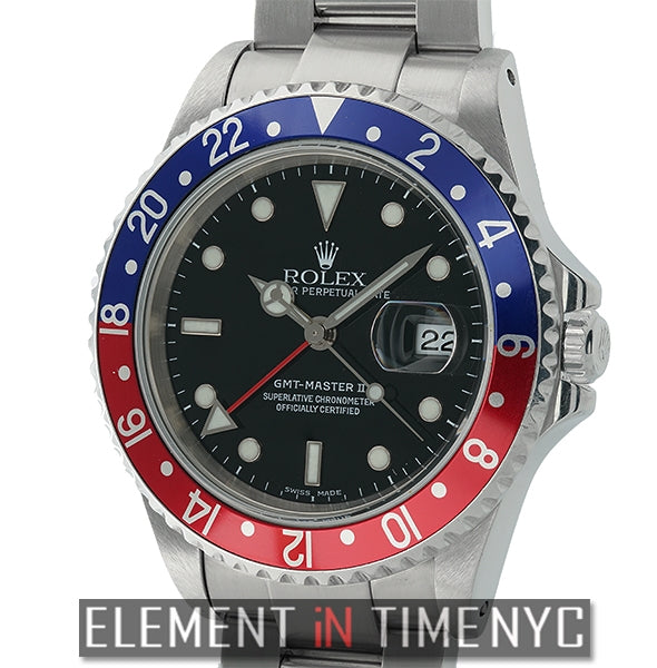 Stainless Steel Pepsi Red/Blue Bezel A Serial Circa 2000