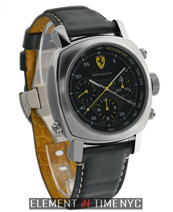 Scuderia Rattrapante Stainless Steel 45mm Black Dial