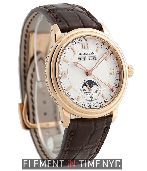 Complete Calendar Moonphase 38mm 18k RG Half Hunter