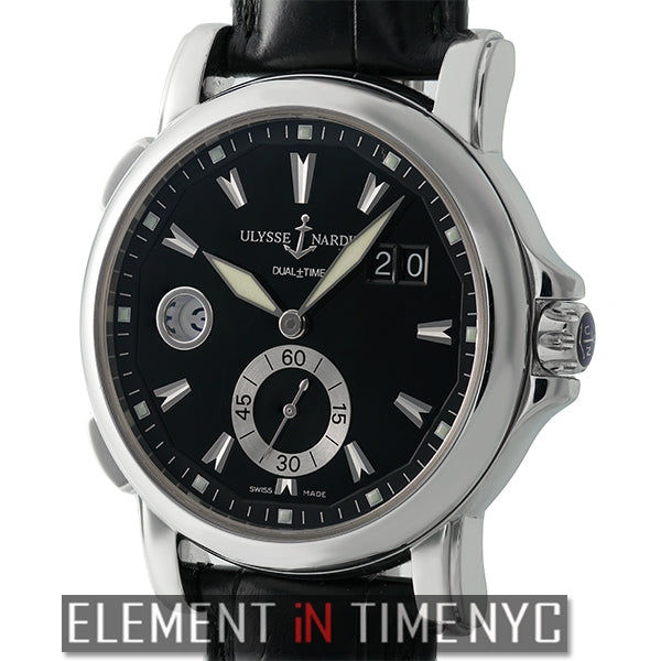 Dual Time Big Date 42mm Stainless Steel Black Dial