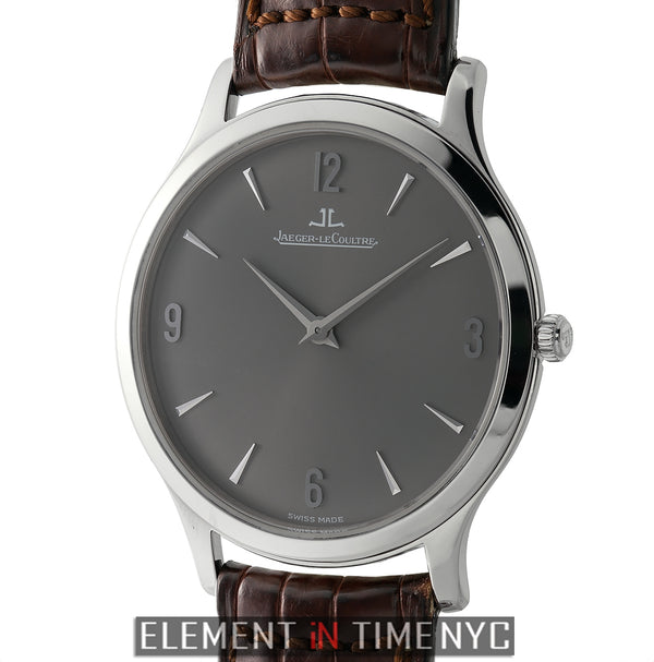 Master Ultra Thin 18k White Gold Grey Dial Deployment