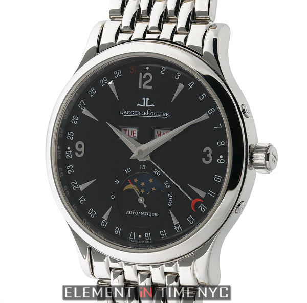 Master Moon Stainless Steel 37mm Black Dial