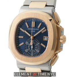 Chronograph Steel & Rose Gold Blue Dial 41mm 2016