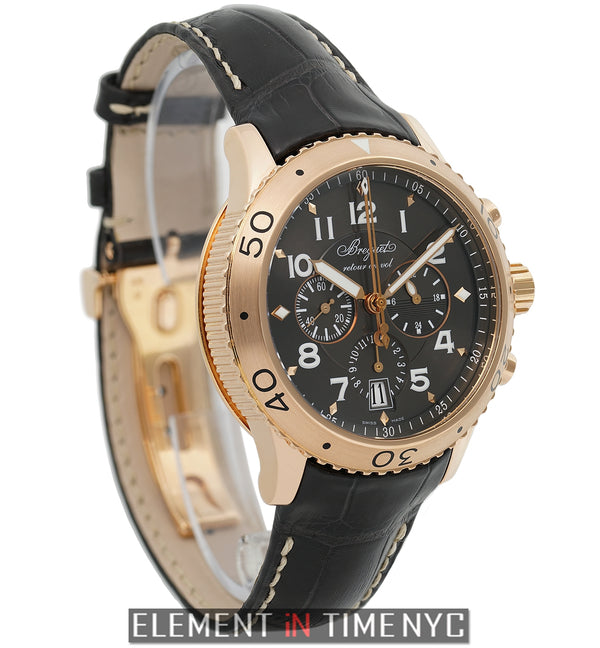 Transatlantique Type XXI Flyback Chronograph Rose Gold