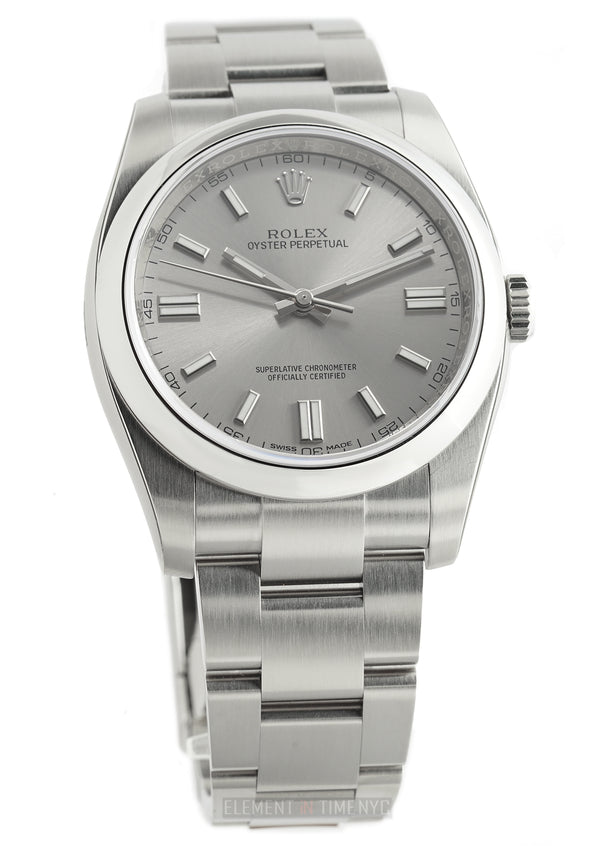 No-Date Stainless Steel 36mm Steel Dial