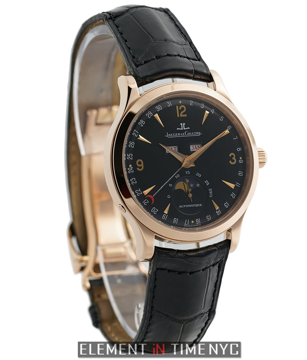 Master Moon 18k Rose Gold 37mm Black Dial On Deployment