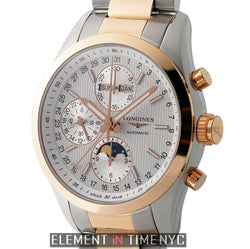 Chronograph Moonphase 42mm Steel & 18k Rose Gold Silver Dial