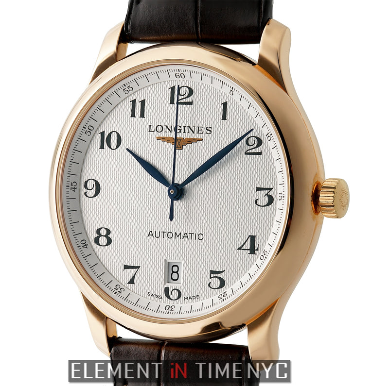39mm 18k Rose Gold Silver Dial Automatic