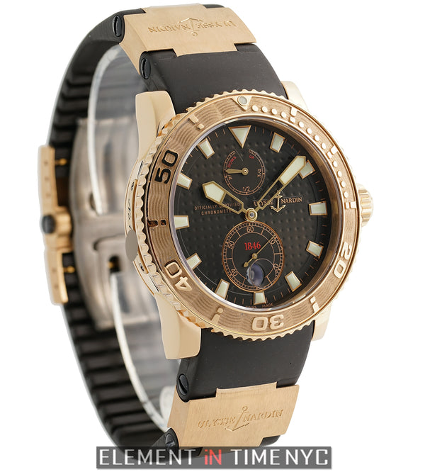 18k Rose Gold Brown Dial 43mm