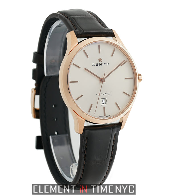 Captain Central Second 18k Rose Gold 40mm Silver Dial