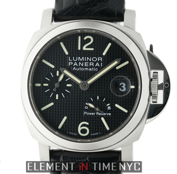 Luminor Power Reserve Steel 40mm Black Waffle Dial