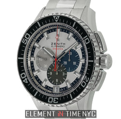 Stratos Flyback Chronograph Steel 45mm Silver Dial