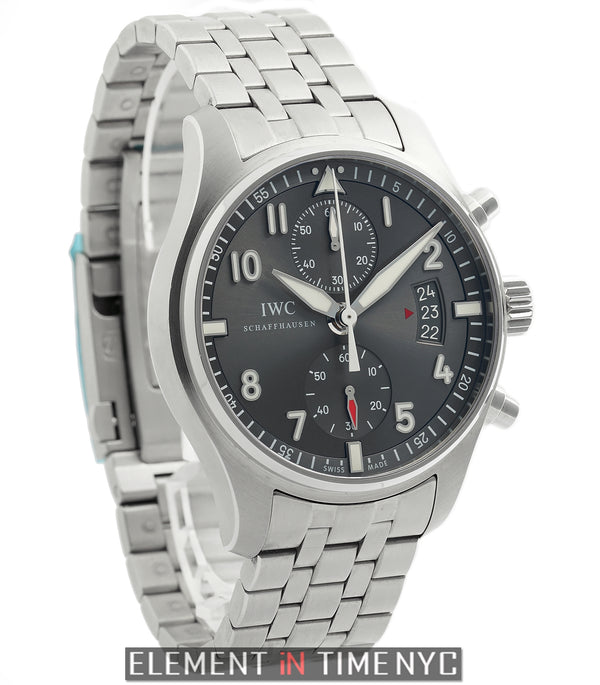 Pilot Spitfire Chronograph Steel 43mm Grey Dial