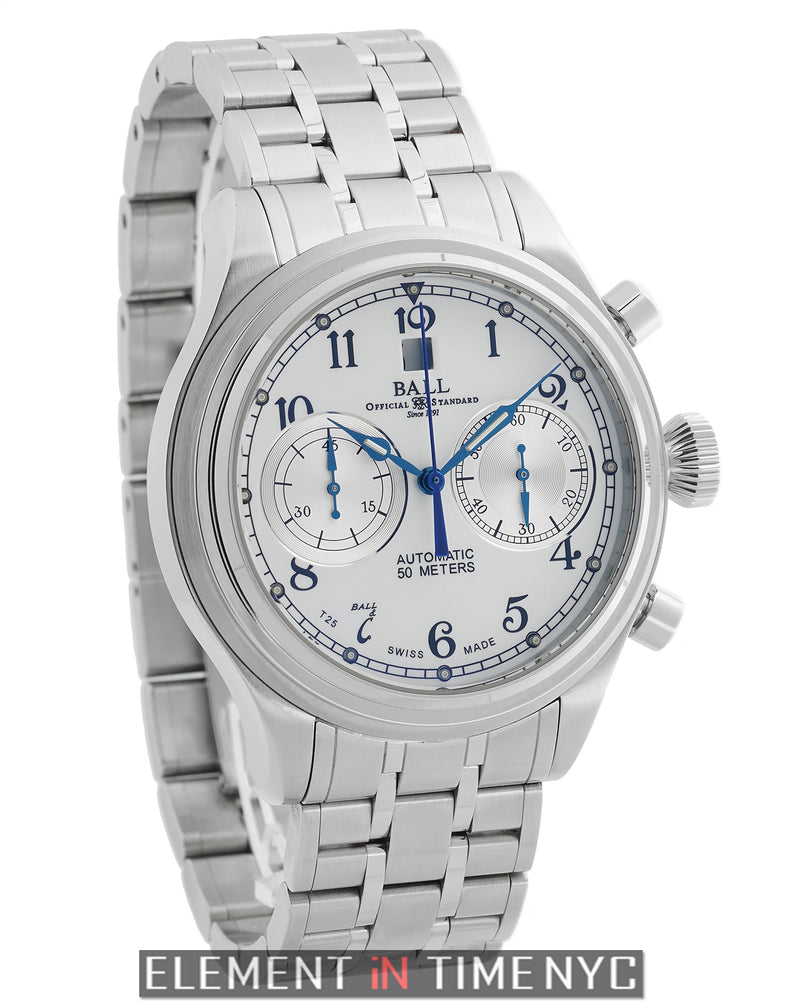 Cannonball Chronograph Stainless Steel 43mm White Dial