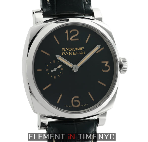 Radiomir 1940 Stainless Steel 42mm Black Dial