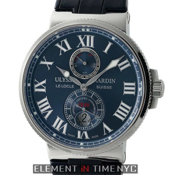 Chronometer Stainless Steel 43mm Blue Dial