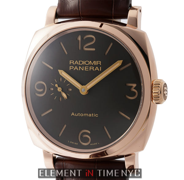 Radiomir 1940 3 Days 18k Rose Gold Brown Dial