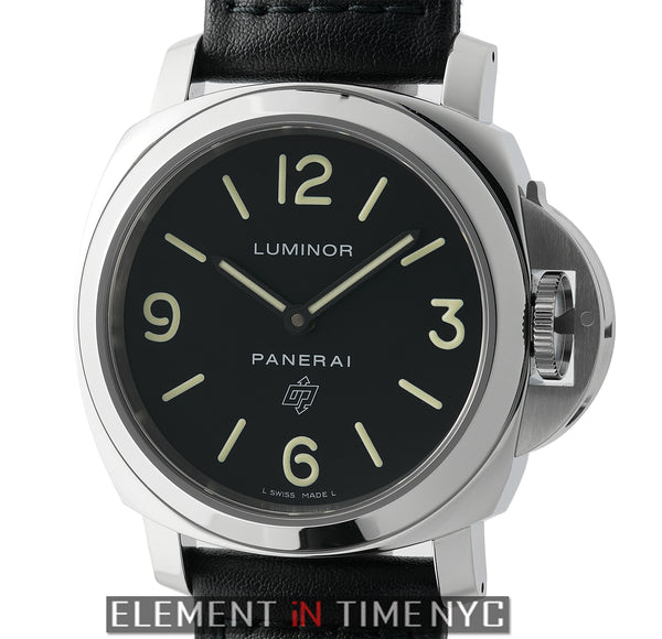 Luminor Base Logo Steel 44mm Black Dial