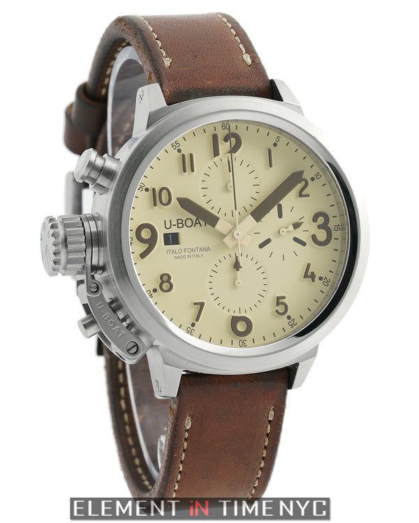 Flightdeck Chronograph Steel 45mm Beige Dial