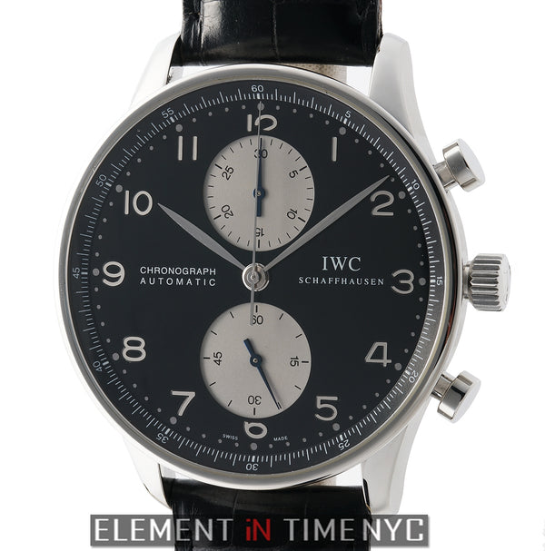 Chronograph Stainless Steel Black Dial Silver Sub-Dials