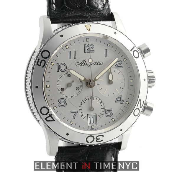 Type XX Transatlantique Chronograph 39mm 18k White Gold