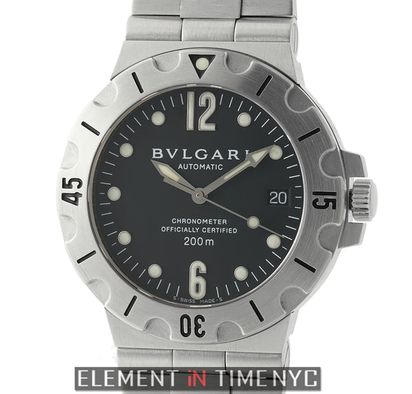 Scuba Chronometer Stainless Steel 38mm Black Dial Circa 2005