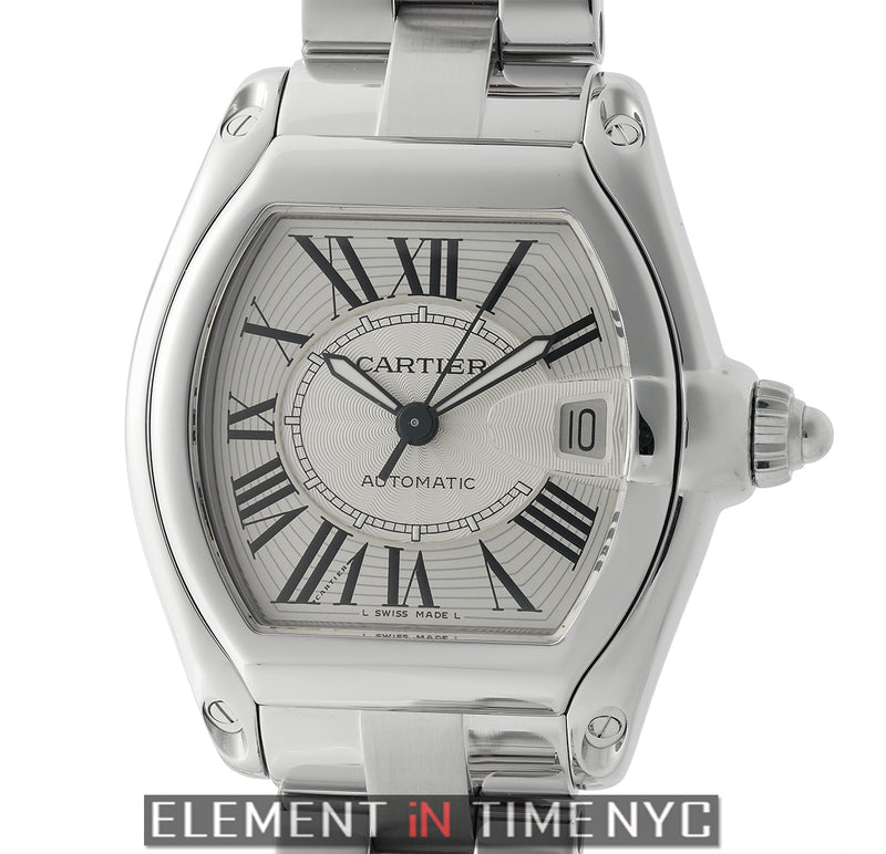 Roadster Large Stainless Steel 37mm Silver Dial
