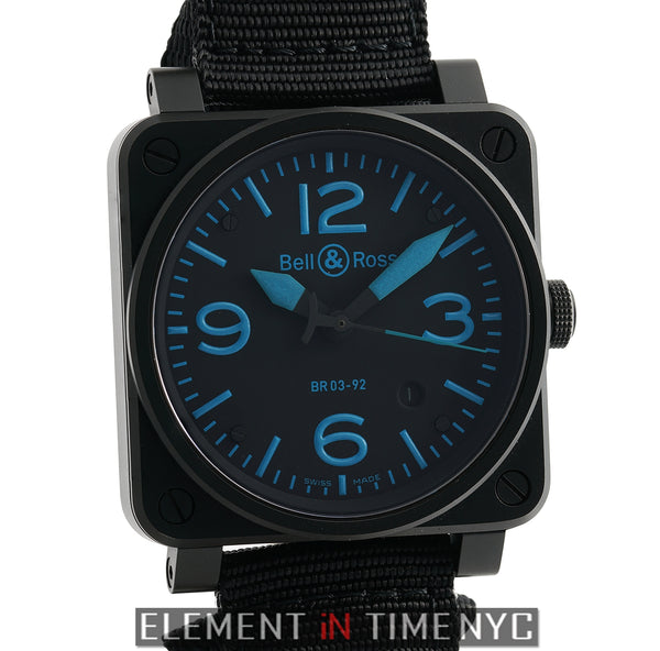 Vintage PVD Coated Steel Blue Accents